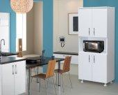 Nesse Shop Mutfak Dolabı 5 Raflı 2 Kapaklı Ortası Bölmeli Modüler