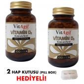 2 Adet Vitagil Gold 1000 Iu Vitamin D3 100 Jel Kapsül