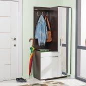 Adore Elegant Aynalı Portmanto Ve Ayakkabılık Wenge Beyaz