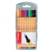 Stabilo Point 88 Karışık Renk İğne Uçlu Kalem 10lu