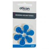 Oticon 675 Numara İşitme Cihaz Pili (6&#039 Lı Blister)