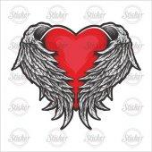 Kanatlı Kalp Sticker 20082