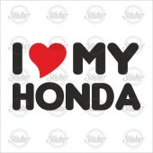 ı Love My Honda Sticker 15007