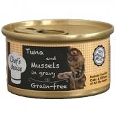 Chefs Choice Gravy Ton Balıklı Midyeli Kedi Yaş Mama 80 Gr