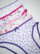 12 Adet Modatime Kız Çocuk Slip Külot 100 Pamuk