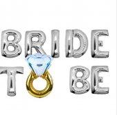 Gümüş 35 Cm Bride To Be Folyo Balon Yüzüklü