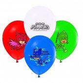 100 Lü Pj Maskeler Balon Pj Maskeler Karışık Renk Latex Balon