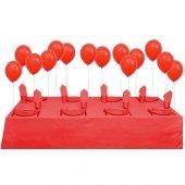 25 Kişilik Kırmızı Parti Set Kırmızı Doğum Günü Seti