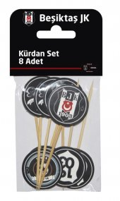 Doğum Günü Bjk Beşiktaş Pasta Kürdanı 8 Li