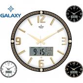 Duvar Saati Galaxy Premium Dijital Tarih Ve Termometre Pil Hediye