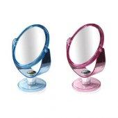 şeffaf Akrilik Ayaklı 13cm � Makyaj Aynası Büyüteçli Çift Taraflı