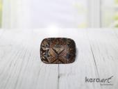 Keramika Kayık Selen 18cm Tabak Mat Transparan Be