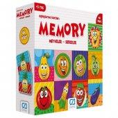Hafıza Oyunu Eşleştirme Kartları 48 Parça Meyveler