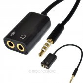 Kulaklık Mikrofon Birleştirici Adaptör Kablo