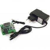12v Dijital Termostat + 12v 1a Ac Dc Adaptör