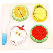 Ahşap Meyve Kesme Doğrama Oyunu Eğitici Oyuncak 10...
