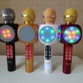 Wster Ws 1816 Karaoke Mikrofon Bluetooth Led Işık Usb Sd Aux