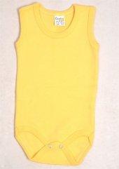 Cantaz Bebek Sarı Çıtçıtlı Body