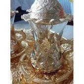 Osmanlı Motifli Çay Seti Altın, Bakır Ve Gümüş Renk