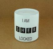 Seramik I Am Sher Locked Baskılı Kumbara