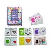 Eğitici Oyuncaklar Zıt Kavramlar Sayı Renk Şekil İlişki Kurma