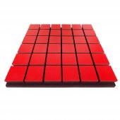 Akustik Kare Sünger 5 Cm Kırmızı 49x49 Cm