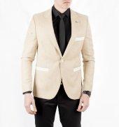 66cb097528dac Deepsea Hardal Sarısı Kuşgözü Desenli Slimfit Yeni Sezon Blazer Erkek Ceket  1801955