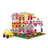 Bricks 741 Parça Peri Lego Seti Kız Çocuk Evleri Seti Eğitici Viila Kız Çocuk Oyunları