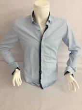 Benesse Baskılı Klasik Uzun Kollu Gömlek