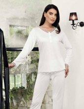 şahinler Zakkum Dantelli Bayan Pijama Takımı Beyaz Mbp24404 1