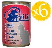 Pati Life Sığır Etli Konserve Yetişkin Kedi Maması 415 Gr X 6
