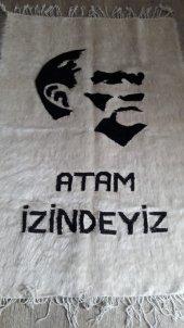 Atatürk Portresi, 1. Kalite, %100 Tiftik, El Dokuması