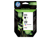 Hp Sd367ae (21 22) Sıyah Uc Renklı 2 Lı Paket Murekkep Kartusları
