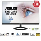 23.8 Asus Vz249he Ips 1920x1080 5ms 3yıl Hdmı Vga Eyecare Slim