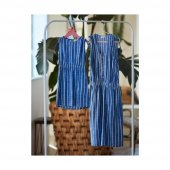 Penye Mood 8537 Kız Çocuk Elbise Mavi 3 12 Yaş