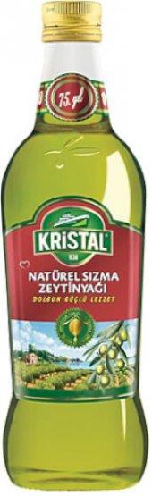 Kristal Natürel Sızma Zeytinyağı Dolgun Güçlü Soğuk Sıkım 1 Lt