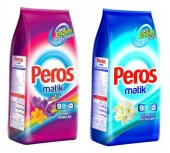 Peros Matik Renkli Ve Beyaz İçin Toz Çamaşır Deterjanı 9kgx2 Ad