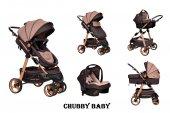 Chubby Baby Trio Travel Sistem Bebek Arabası Taşıma Puseti Kahve