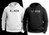 Black Whıte Çift Sweatshırt
