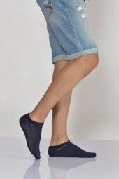 Düz Sport Erkek Patik Çorabı Lacivert E Art234