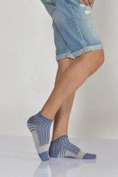 Kalın Çemberli Erkek Patik Çorabı Mavi E Art234