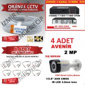 4 Lü Kamera Seti Dvr 4 Kamera Kablo Bnc Seti Ekonomik Set