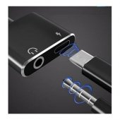 Samsung Galaxy Note 8 Type C Kulaklık Şarj Kiti Aynı Anda 3,5mm J