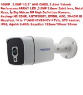 Avenir Sensör 2 Megapixel Lens 3 Metal Kasa Ahd Kamera 1 2.8
