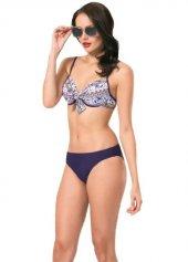 Nbb 51100 Kadın Desenli Önü Bağlamalı Kaplı Bikini Mayo