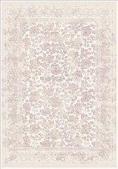 Pudra Renk Çiçek Desenli Bordürlü Salon Halısı Hs97054t