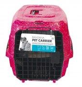 Kedi Köpek Taşıma Gül Des. 58*40*26,5 Max 11 Kg...