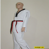 Siyah Yaka Taekwondo Elbisesi