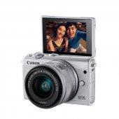 Canon Eos M100 + 15 45mm Lens Gümüş Aynasız Fotoğraf Makinesi