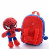 örümcek Spider Man Peluş Çıkarılabilir Figürlü Sır...